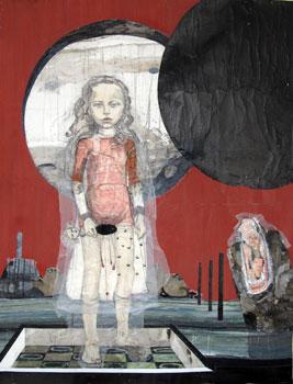 Kinderspiele: Nocturno II, 2013, Zeichnungscollage auf Papier, 142 cm × 179 cm