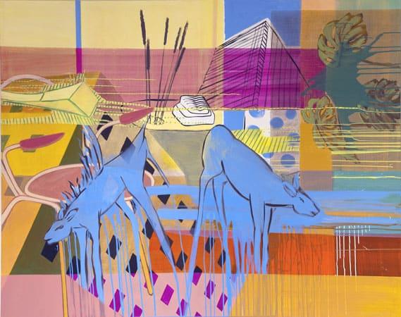 Anne-Kolvenbach,-Blaupunkt,-2008,-160-x-200-cm,-Acryl-a