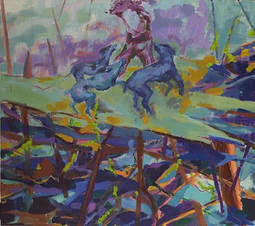 Arena,2009, Öl auf Leinwand, 165 x 180