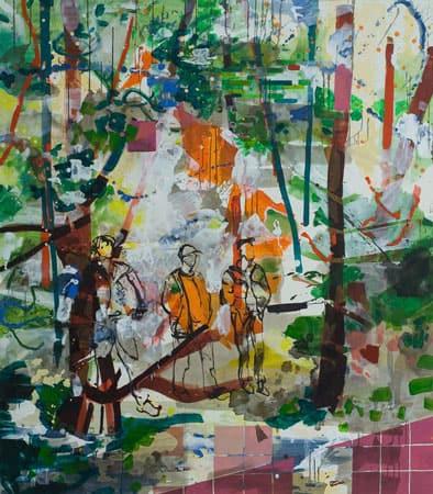 Malerei von josephine Behlke, Schöne-Neue-Welt