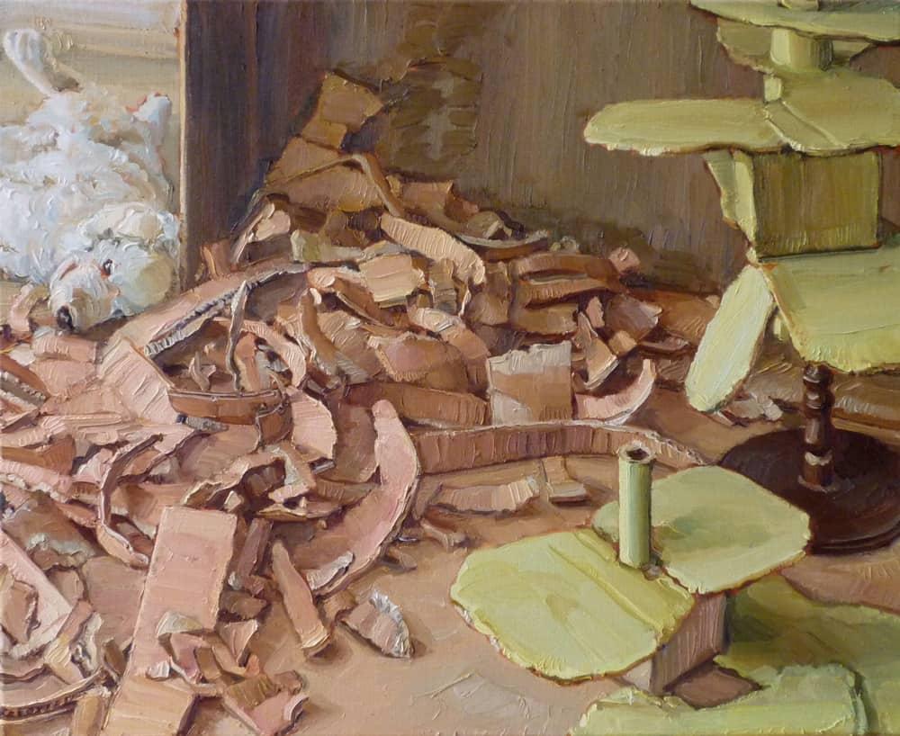 Mathias Weis | Depot | 2020 | Öl auf Leinwand | 65 x 80 cm